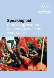 Speaking out promoting women as decision ... - Gender Matters