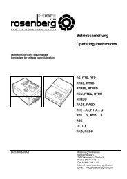 Betriebsanleitung Operating instructions - Rosenberg Ventilatoren ...