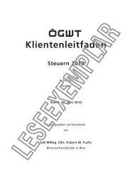 Klientenleitfaden Steuern 2010 - ÖGWT