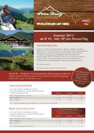 Sommer 2011: ab 4 41,- inkl. HP pro Person/Tag - Alpengasthof ...
