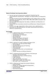 3841 CISCO Academy - CCNA Komplettausbildung www.wifi.at ...