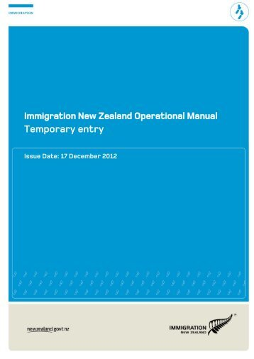 Temporary Entry PDF - Immigration New Zealand