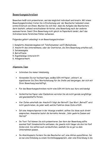 tipps fr erfolgreiche bewerbungsschreiben intercolorat - Abschlusssatze Bewerbung