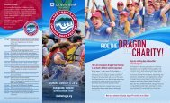 2012 Lake Champlain Dragon Boat Festival Brochure