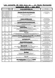 0 Les concerts jazz en Hte-Ndie sept 2012 - juin 2013 - Art-Culture ...