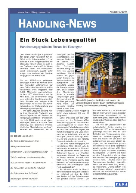 VESA HandlingNews - VESA GmbH