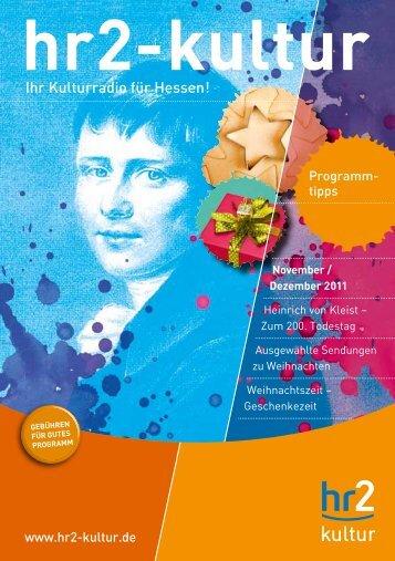 Ihr Kulturradio für Hessen! - Hessischer Rundfunk