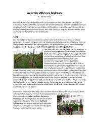 Weinreise 2012 zum Bodensee