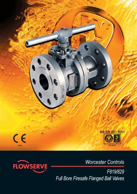 Worcester Controls F819/829 Full Bore Firesafe Flanged Ball Valves