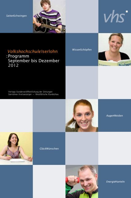 VolkshochschuleIserlohn : Programm September bis Dezember 2012