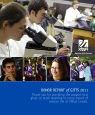 DONOR REPORT of GIFTS 2011 - University of Massachusetts Lowell