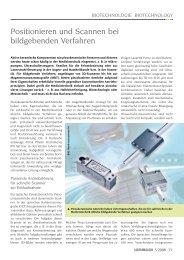 Positionieren und scannen bei bildgebenden ... - Laser Magazin