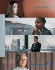 Jahresbericht 2006 - Deutsche Bank