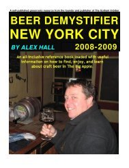 beer demystifier - new york city - The Gotham Imbiber