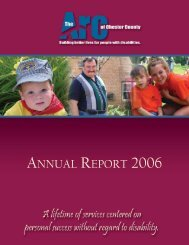 Arc 2006 Annual Report-FINAL.qxd - Arc of Chester County