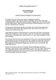 Hürther Rudergesellschaft e.V. Pressemitteilung vom 8.11.2009 ...