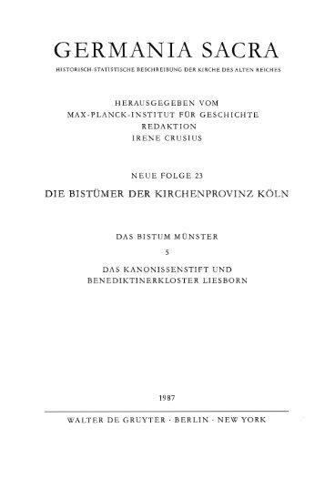 Das Kanonissenstift und Benediktinerkloster Liesborn - Germania ...