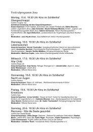 Festivalprogramm Jena - Ausnahme Zustand