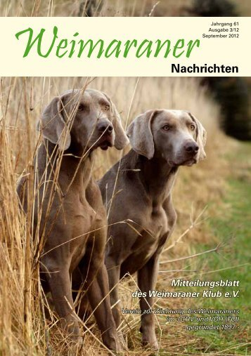 WeimaranerNachrichten - Weimaraner Klub eV