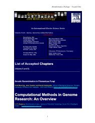Computational Methods in Genome Research: An Overview