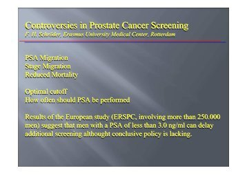 Controversies in Prostate Cancer Screening Controversies in ...