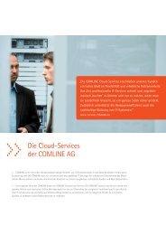 Die Cloud-Services der COMLINE AG