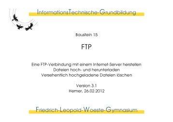 InformationsTechnische-Grundbildung Friedrich-Leopold-Woeste ...