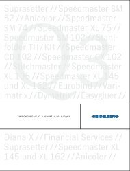 Diana X // Financial Services // Suprasetter // Speedmaster XL 145 ...