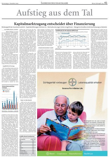 Kapitalmarktzugang entscheidet über Finanzierung - Börsen-Zeitung