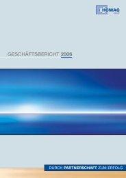 GESCHÄFTSBERICHT 2006 - HOMAG Group