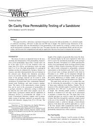 On Cavity Flow Permeability Testing of a Sandstone - National ...