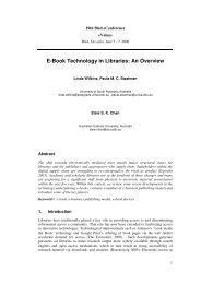 E-Book Technology in Libraries: An Overview