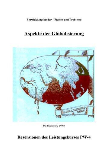 Fakten und Probleme Aspekte der Globalisierung