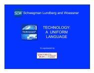 TECHNOLOGY: A UNIFORM LANGUAGE - Technoscan