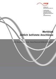 Merkblatt - Zeitlich befristete Anschlüsse - EVS