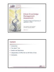 kScan Knowledge Management Assessment - ISN