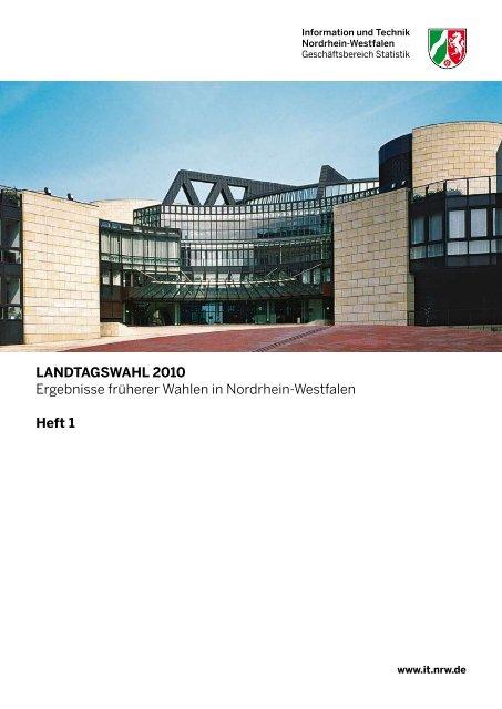 Landtagswahl 2010 - Publikationsservice von IT.NRW