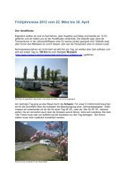Frühjahrsreise 2012 vom 22. März bis 30. April - Stalgies
