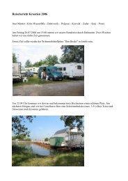 Reisebericht Kroatien 2006 - Unterwegs Daheim