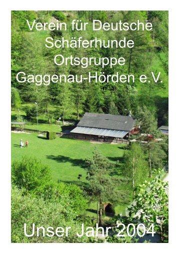 Unser Jahr 2004 - SV OG Gaggenau / Hörden