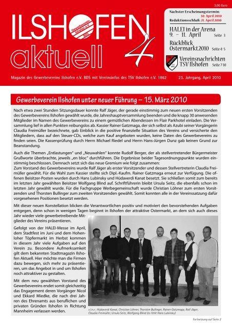 15. März 2010 - Gewerbeverein Ilshofen eV / Startseite