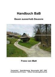Handbuch Bauen ausserhalb Bauzone - vlp-aspan