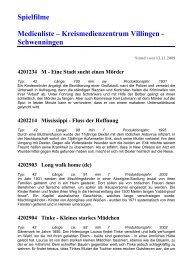 Spielfilme (ab 2004) - KMZ-Villingen