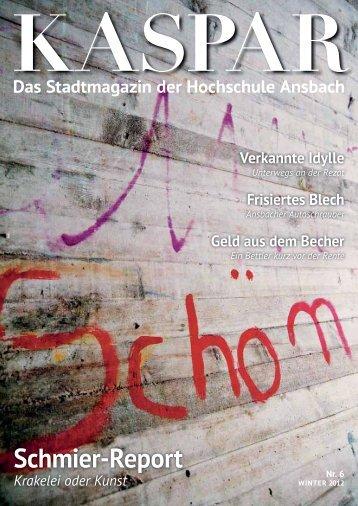 Schmier-Report - Hochschule Ansbach