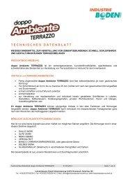 Technisches Datenblatt - Industrieboden GmbH