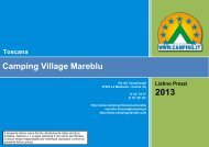 Camping Village Mareblu Toscana - Camping.it