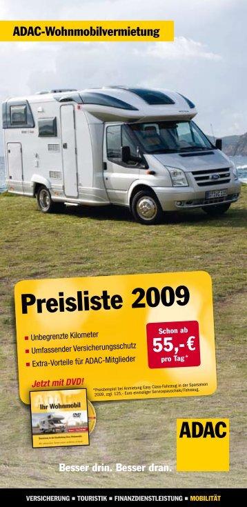 ADAC-Wohnmobilvermietung - Camping Bungalows Adler