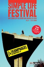 Programm Simple Life Festival - Eucrea