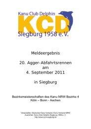 Sonntag, den 04. September 2011 - Kanu Club Delphin Siegburg ...