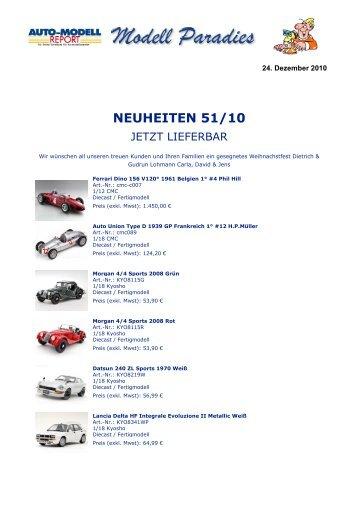 NEUHEITEN 51/10 - Auto-Modell-Report